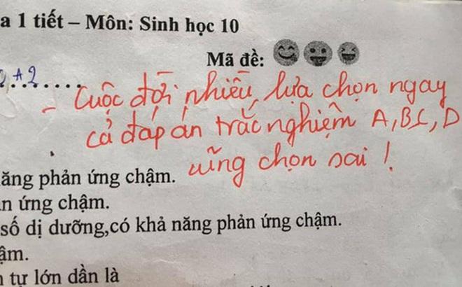 Buồn nẫu ruột vì điểm kém, học trò vẫn phì cười trước dòng nhận xét mặn hơn cả muối của cô giáo
