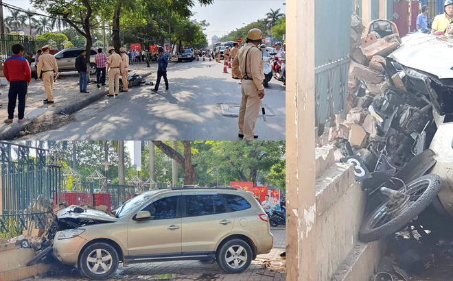 Xe ô tô 'điên' tông hàng loạt người bị thương ở Hải Phòng