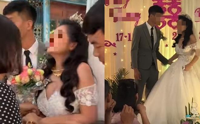 """Cô dâu có biểu cảm """"kì lạ"""" trong ngày cưới đang được MXH thi nhau đồn đoán nhưng thái độ xử lý tình huống của chú rể mới đáng nói"""