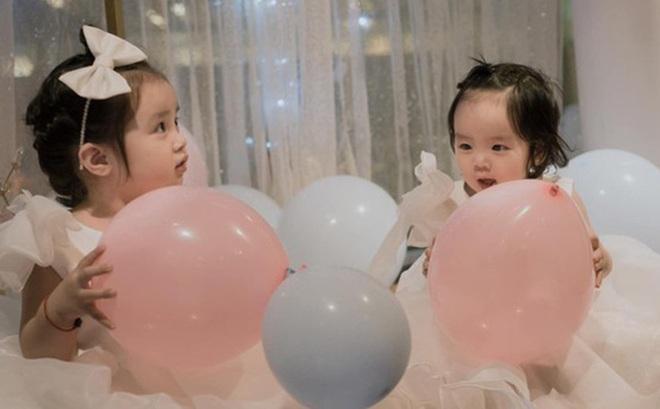 Hai con gái Hoài Lâm xinh như thiên thần trong ngày sinh nhật