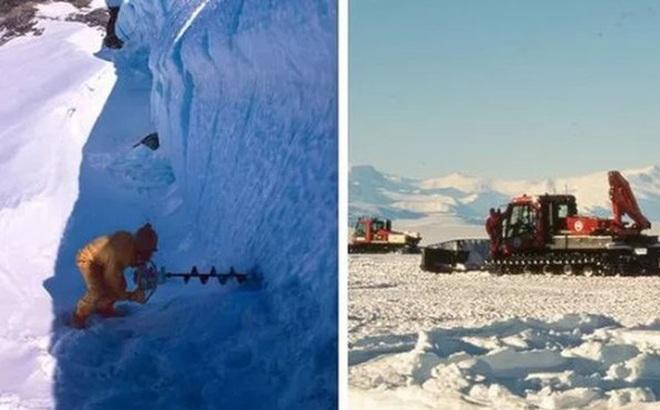 """Khoan tảng băng 2 triệu năm tuổi, nhà khoa học """"sốc"""" với thứ bên trong"""