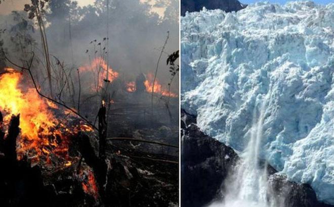 Cháy rừng kỷ lục ở Amazon đã thể hiện hậu quả: Băng ở dãy núi dài nhất thế giới hiện đang tan chảy với tốc độ cực nhanh