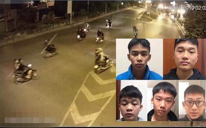 Bắt nhóm thanh niên cầm dao diễu hành cướp tài sản ở Long Biên