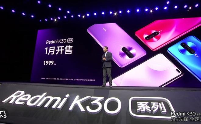 Redmi K30 5G chính thức ra mắt: Chip Snapdragon 765, màn hình 6,67 inch 120Hz, 4 camera sau, cảm biến chính 64MP, giá bán từ 280 USD