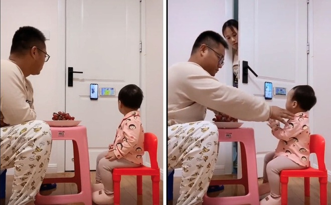 """Pha """"thông đồng"""" đỉnh cao của năm: Bố và con gái lén lút xem điện thoại, mẹ rình bao lần vẫn không thể bắt quả tang"""