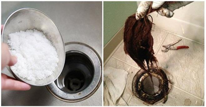 Cống nhà vệ sinh bị tắc do tóc và rác, chỉ 5 phút đã thông dễ dàng nhờ sử dụng nguyên liệu trong bếp nhà nào cũng có - Ảnh 1.
