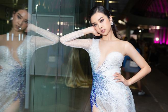 Hoa hậu Lương Thùy Linh vấp ngã trên thảm đỏ - Ảnh 7.