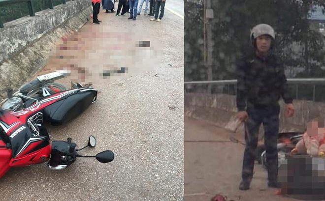 Thái Nguyên: Người đàn ông ép xe 2 mẹ con ngã xuống đường, lao vào chém mẹ tới tấp