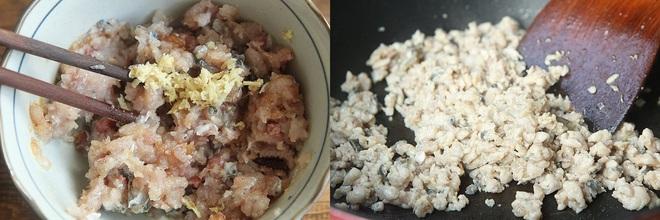 Đổ chút dầu ăn vào chảo, thêm củ cải vào xào đến khi củ cải chín thì đổ cá trở lại đảo chung.