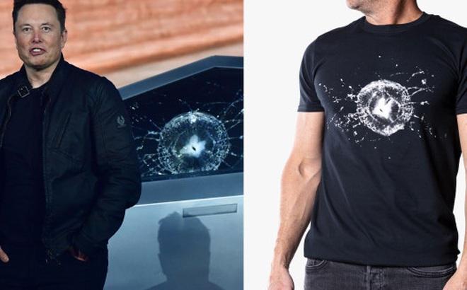 Tesla đang bán áo phông in hình kỷ niệm chiếc Cybertruck bị vỡ cửa sổ
