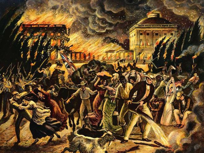 Lần duy nhất Washington thất thủ, Nhà Trắng bị đốt cháy - Ảnh 4.