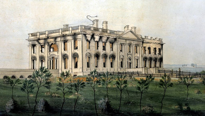 Lần duy nhất Washington thất thủ, Nhà Trắng bị đốt cháy - Ảnh 8.