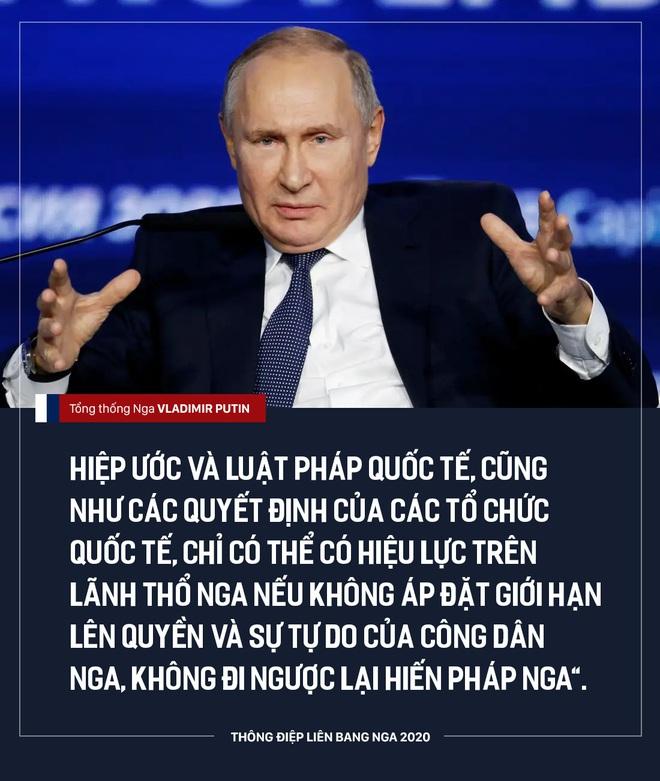 TT Putin đề xuất điều chỉnh quyền lực của Quốc hội, ưu tiên hiến pháp Nga hơn luật pháp quốc tế - Ảnh 1.