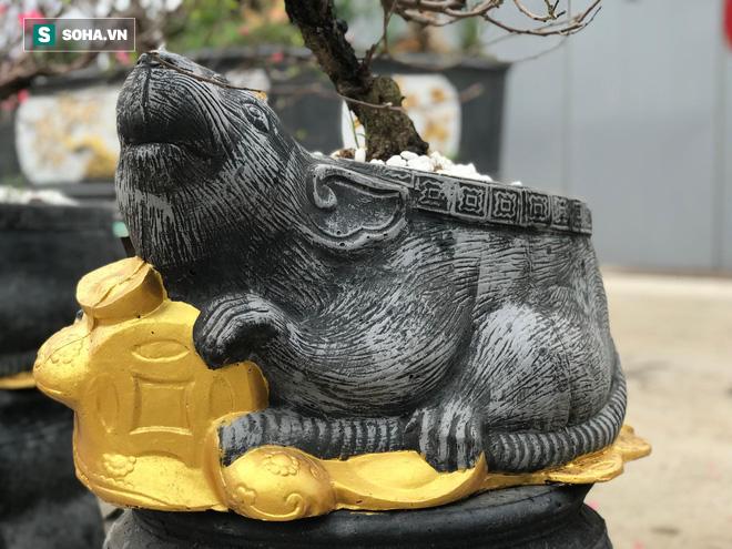 Chuột đen cưỡi vàng cõng hoa đào giá 2 triệu đồng hút khách dịp Tết 2020 - Ảnh 1.