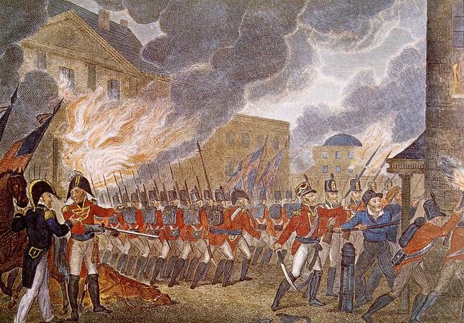 Lần duy nhất Washington thất thủ, Nhà Trắng bị đốt cháy - Ảnh 1.