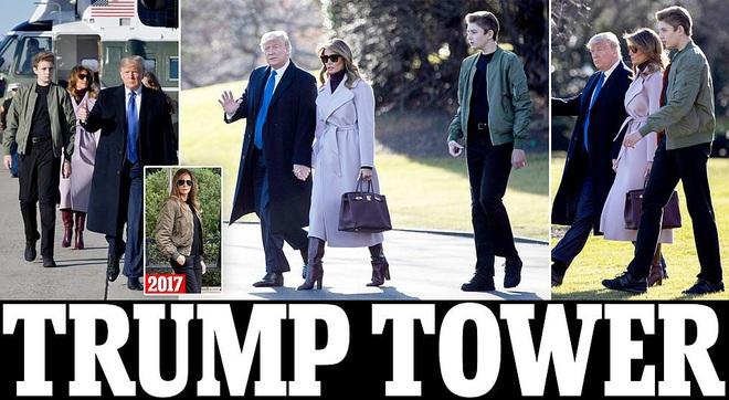 Cao 1m90, ông Trump vẫn thấp hơn con trai 13 tuổi gần 1 cái đầu: Dân Mỹ choáng, đặt nhiều biệt danh lạ - Ảnh 1.