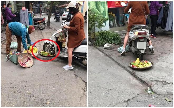 Thông tin bất ngờ vụ người phụ nữ đi xe Lead cán nát mẹt hoa quả của cô bán hàng rong