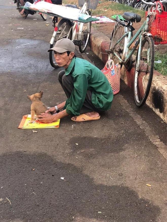 Xót xa hình ảnh lão Hạc thời nay đem cún con đi bán ngày giáp Tết - Ảnh 1.