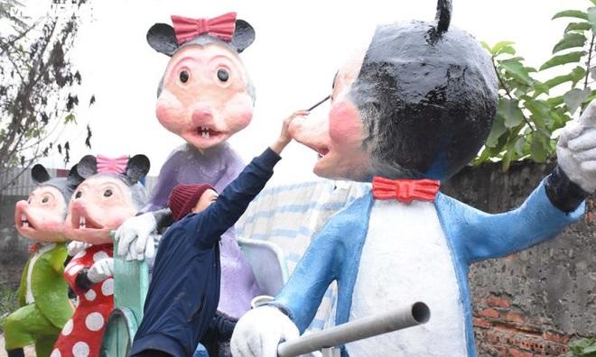 Độc đáo gia đình chuột khổng lồ nắm tay nhau dạo phố Hải Phòng - Ảnh 6.