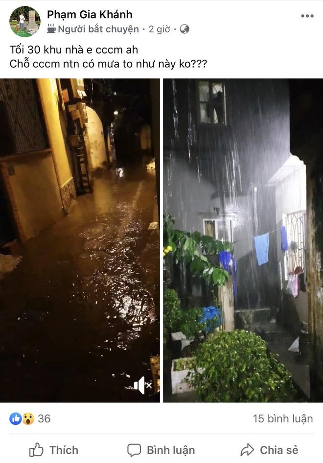 Hà Nội vừa xảy ra mưa đá, cả mạng xã hội nháo nhào: Đêm 30 Tết lạ kỳ - Ảnh 4.