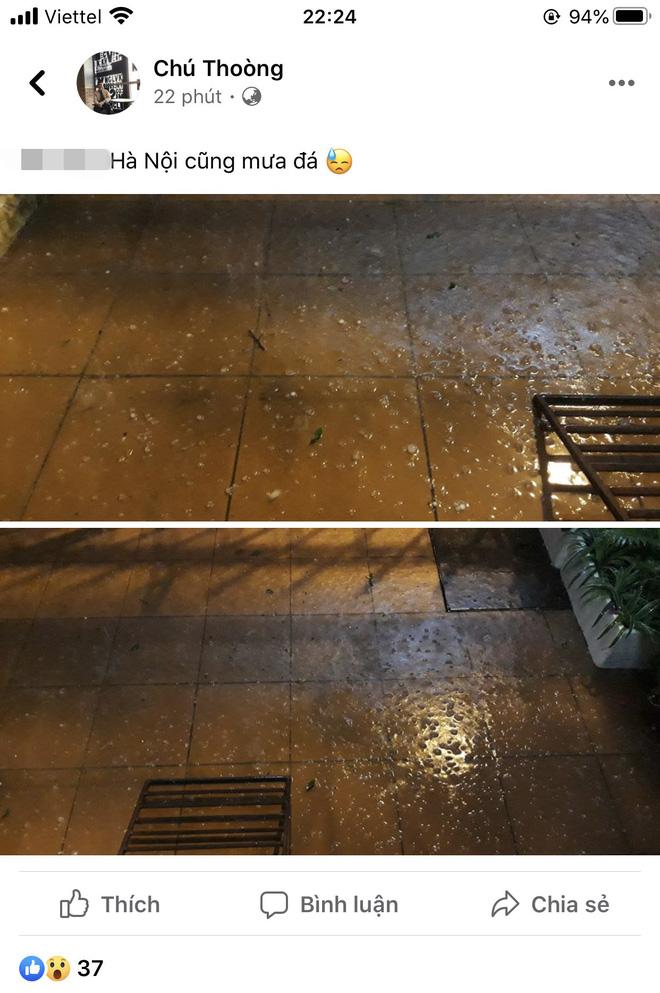 Hà Nội vừa xảy ra mưa đá, cả mạng xã hội nháo nhào: Đêm 30 Tết lạ kỳ - Ảnh 3.