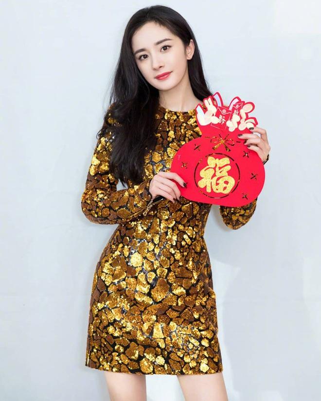 Lưu Gia Linh, Dương Mịch, Angelababy rạng ngời đón xuân - Ảnh 9.
