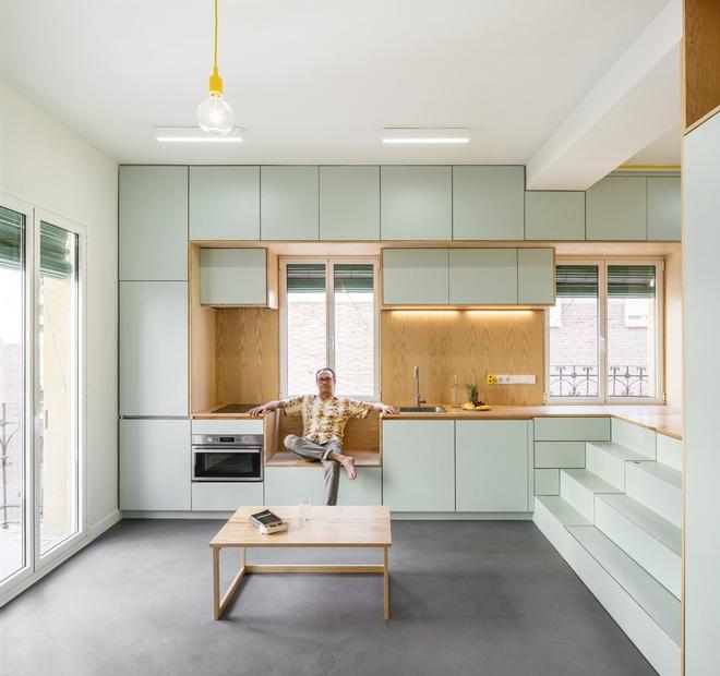 Độc đáo căn hộ 33 m2 có thể tháo lắp mọi thứ như một trò xếp hình - Ảnh 7.
