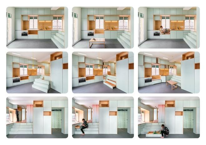Độc đáo căn hộ 33 m2 có thể tháo lắp mọi thứ như một trò xếp hình - Ảnh 4.