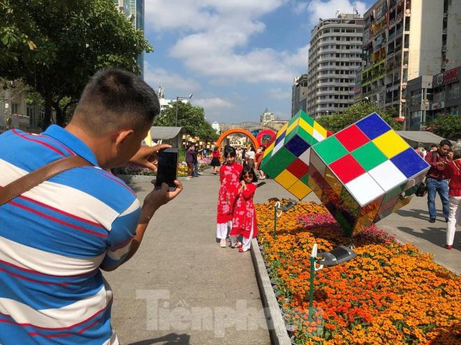 Vì sao tiểu cảnh ở phố đi bộ Nguyễn Huệ tả tơi - Ảnh 2.