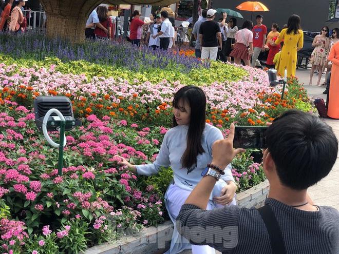 Vì sao tiểu cảnh ở phố đi bộ Nguyễn Huệ tả tơi - Ảnh 23.