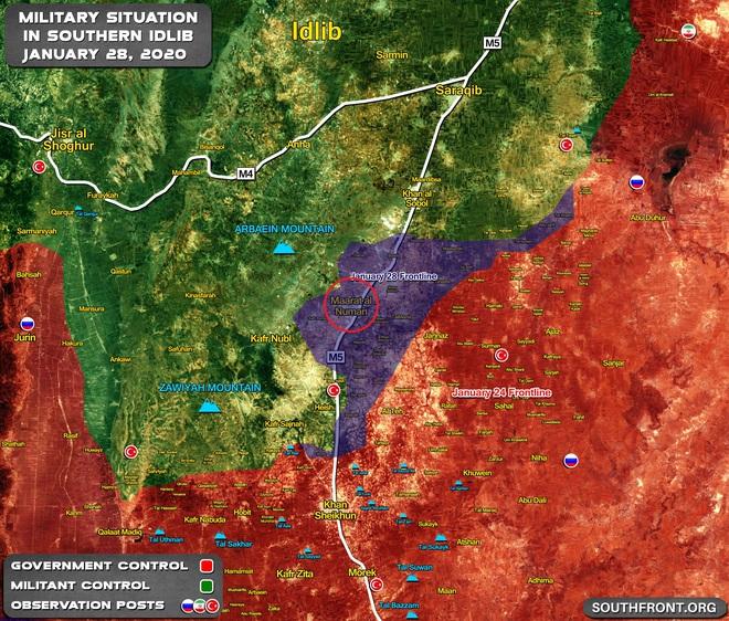 Phiến quân vỡ trận, QĐ Syria thần tốc giải phóng Maarat al-Numan: Cánh cửa vào Idlib đã mở - Ảnh 1.