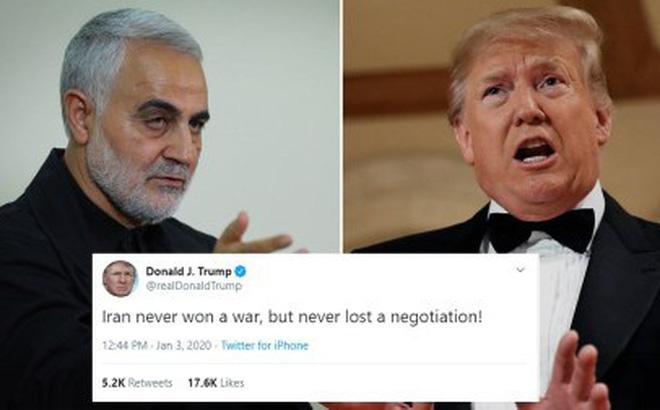 """TT Trump đăng bình luận đầu tiên sau khi Tướng Soleimani bị sát hại, """"đá xoáy"""" Iran cực gắt"""