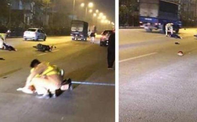 Trung úy CSGT tử vong vì bị thanh niên đua xe tông trúng