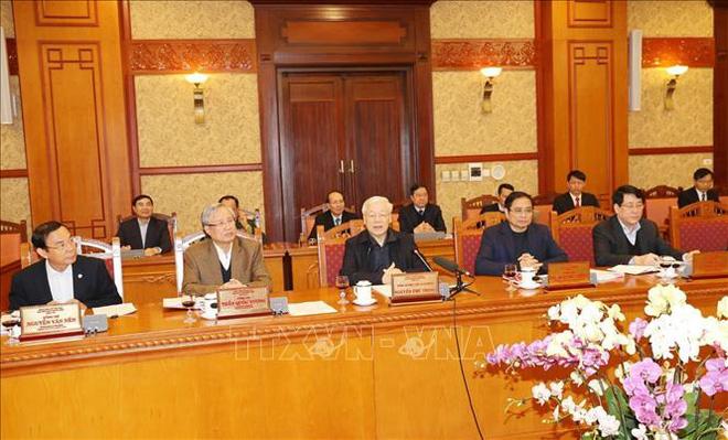 Tổng Bí thư, Chủ tịch nước chủ trì họp Ban Bí thư xem xét, quyết định về công tác cán bộ - Ảnh 1.