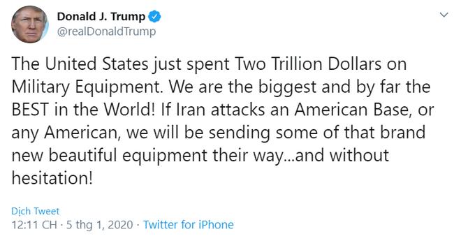 """CẬP NHẬT: TT Trump sẽ dùng kho vũ khí 2.000 tỷ USD để san phẳng Iran – Quốc hội Iraq họp khẩn, quân Mỹ sắp bị """"tống cổ"""" ra khỏi Baghdad? - Ảnh 4."""