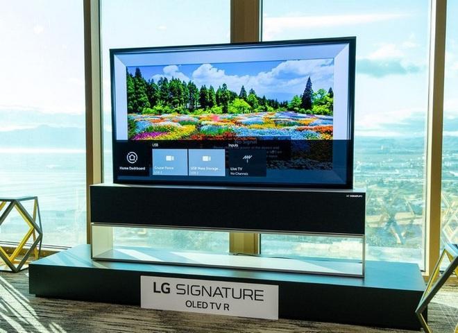 TV uốn dẻo của LG sẽ bán ra trong năm nay nhưng giá cao ngất ngưởng tới 60.000 USD - Ảnh 1.
