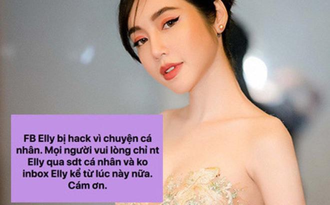 """Giữa lúc rộ nghi vấn bị chồng Tây """"cắm sừng"""", Elly Trần bất ngờ tiết lộ tài khoản cá nhân bị hack vì lý do khó hiểu"""