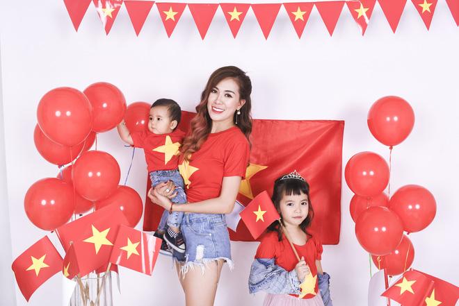 Mẹ con Mai Thỏ cuồng nhiệt cổ vũ đội tuyển Việt Nam - Ảnh 8.
