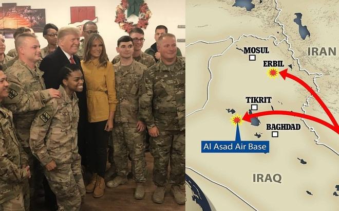 """Trước sự thách thức, Iran đánh thẳng tay, căn cứ Mỹ bị tên lửa vùi dập, """"hàng tỷ USD"""" tan nát?"""