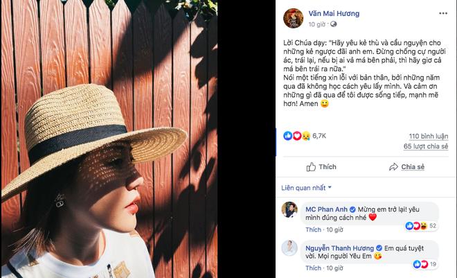 Văn Mai Hương viết những dòng chia sẻ lạc quan sau sự cố lộ clip nhạy cảm - Ảnh 2.