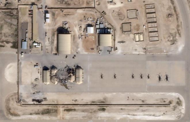 Ảnh vệ tinh hé lộ thiệt hại trong căn cứ Mỹ bị Iran giội tên lửa - Ảnh 3.