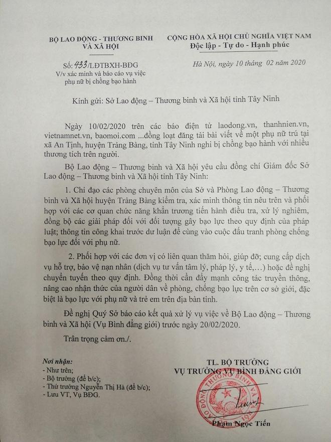 Đề nghị xử lý nghiêm người chồng bạo hành vợ dã man ở Tây Ninh - Ảnh 1.