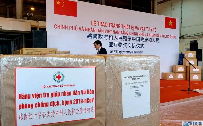 Trung Quốc cảm ơn Việt Nam, xác nhận lô hàng cứu trợ đã đến Vũ Hán hôm nay