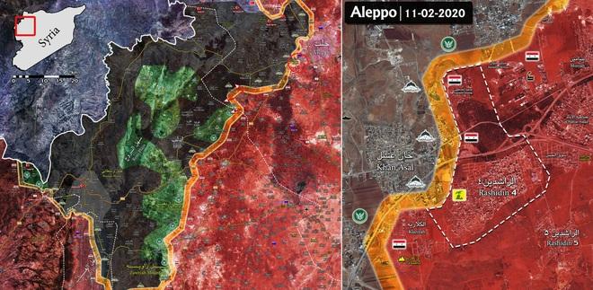 Syria-Thổ đấu pháo ở Saraqeb, lá chắn tây Aleppo sụp đổ, cao tốc chiến lược M5 đổi chủ - Ảnh 1.