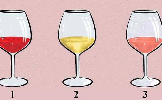 Ly rượu vang nói lên tính cách:  Nếu chọn ly số 1, bạn là người tự tin