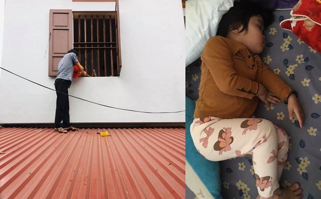 """Vào phòng chốt cửa rồi lăn ra ngủ, cô bé hơn 3 tuổi khiến bố phải """"đau đầu"""" nhờ hàng xóm"""