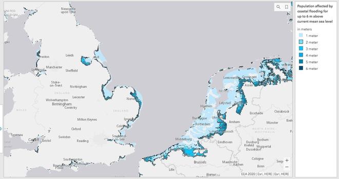 Tiên đoán kịch bản khí hậu đáng sợ tại châu Âu: Hà Lan, Anh, Pháp vật lộn với thảm họa - Ảnh 1.