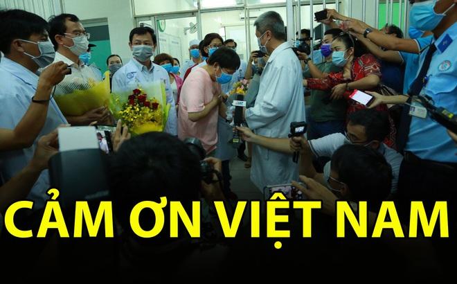 """[TIN VUI] Bố con người Trung Quốc khỏi viêm phổi corona cúi đầu, đặt tay lên ngực nói: """"Cảm ơn Việt Nam"""""""