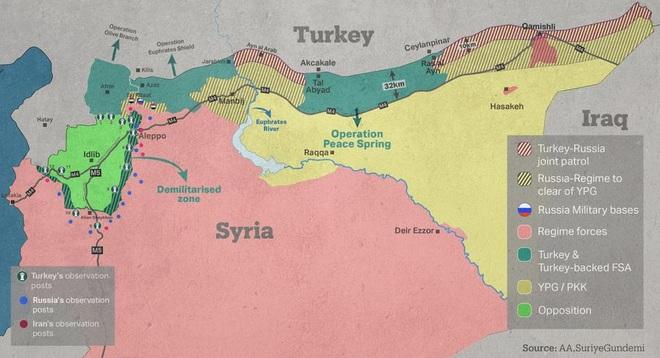 """Nga-Thổ liên tục ra đòn """"dưới thắt lưng"""" ở Idlib: Nước cờ hiểm chia lại miếng bánh Syria? - Ảnh 3."""