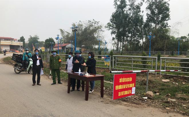 Các điều cấm khi ra vào xã Sơn Lôi hơn 10.000 dân đang phải cách ly ở Vĩnh Phúc